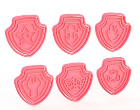 Paw patrol logo cookie cutter set of 6 3D printable model