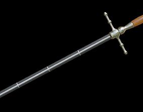 Dagger Stiletto with Sheath 3D model