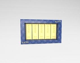 3D asset Funeral Paper Gold v1 002