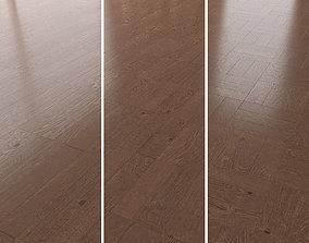 Parquet Oak Walnut Brushed set 3 3D