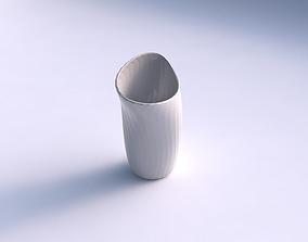 Vase vortex with diagonal grid pattern 3D printable model