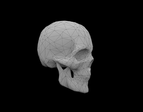 game-ready Skull low-poly 3d model Game-ready