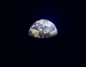 3D asset Earth Planet Blender Scene
