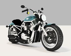 biker Harley Davidson Motorcycle 3D model