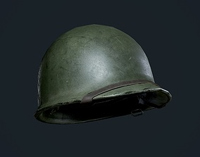 3D model WW2 American Military Helmet Game Ready