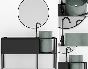 Bathroom furniture 3D model interior