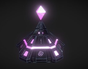 Mystical Ancient Crystal Low Poly PBR 3D model