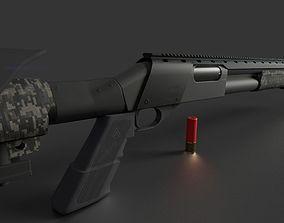 Remington 870 Tactical 3D asset realtime