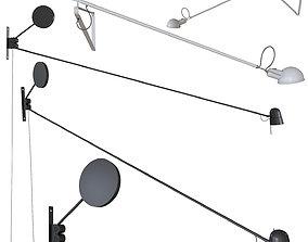 A set of wall lights LUCEPLAN COUNTERBALANCE Flos 3D model
