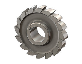 Straight Tooth Side Milling Cutter 3D print model