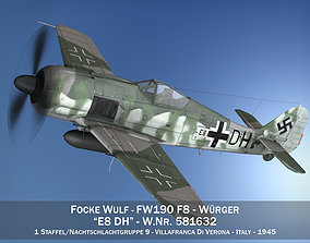 Focke Wulf - FW190 F8 - E8 DH 3D model
