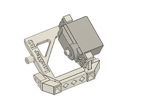 Traxxas TRX4 servo winch bumper mount 3D printable model