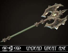3D asset Undead Great Axe
