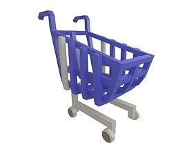 Shopping Cart v1 003 3D asset
