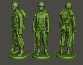 American soldier ww2 Stand A1 3D print model