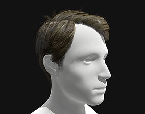 Male Side Part Hairstyle 3D asset
