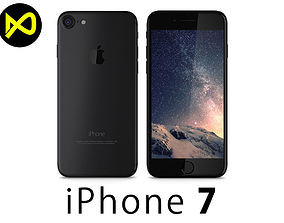 3D model Apple iPhone 7 Matte Black