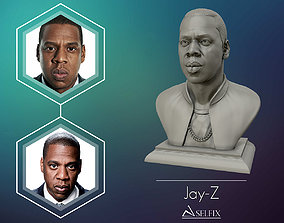 Jay Z Portrait sculpture ready to 3D print
