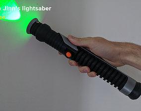Qui-Gon Jinns lightsaber - Star Wars 3D printable model