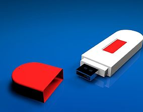 VR / AR ready USB Flash Pendrive 3D model