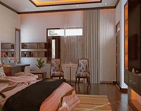 3D print model master bedroom