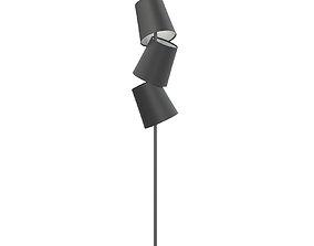 Black Floor Lamp 3D Model interior