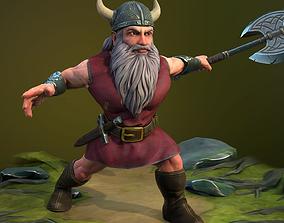 Fantasy Dwarf - rigged 3D model
