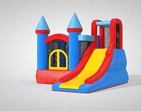 3D model of a kids trampoline
