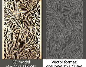 Decorative pane 6 model and vector 3D