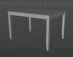 3D Ordinary American Table