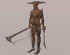 3D asset Stylized humanoid PBR low-poly ready to play