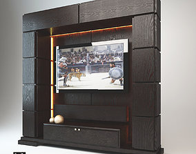TV Wall Stand Wenge 3D
