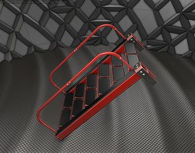 Sci-Fi Stairs - 18 - Red Version 3D model