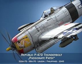 3D Republic P-47 Thunderbolt - Passionate Patsy