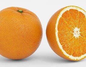 3D Realistic Orange Fruit