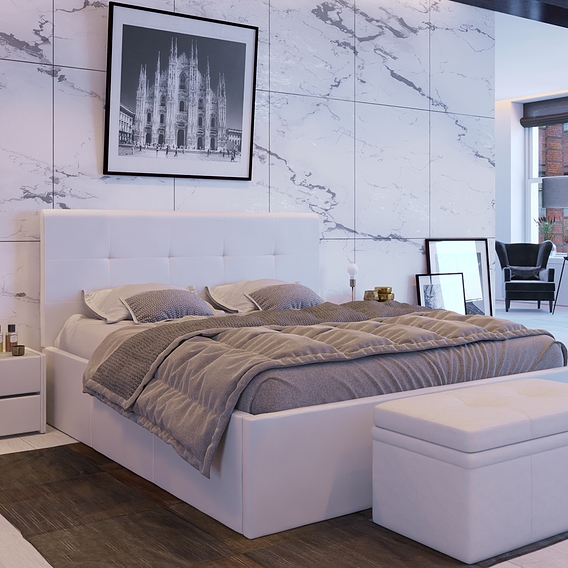 Bedroom in a loft interior
