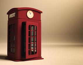 3D Cartoonish London Iconic Telephone Booth