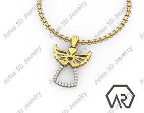 pendants custompendant Angel Pendant 3D print model