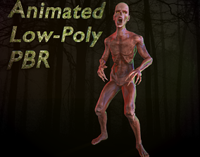 Zombie 3D model animated game-ready