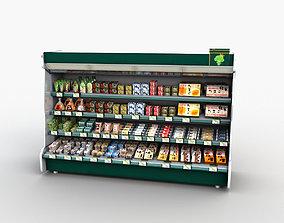 3D model Store Display Refrigerator Freezer Tofu