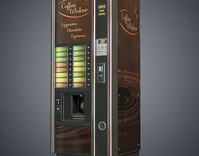 Coffee vending machine 3D model realtime
