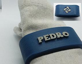 PEDRO napkin ring with lauburu 3D printable model