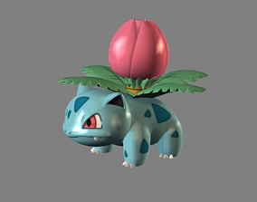 Ivysaur Poke man character 3D