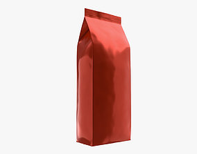 Plastic coffee bag package packet large mock-up 3D model