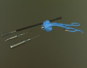 3D asset Laparoscopic tool for med VR training simulator