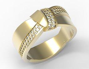 Bowtie design ring stl 3dm ring file