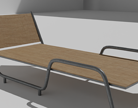 Hostel Bed 3D model