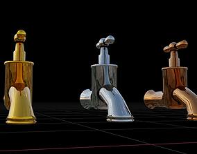 3D model Metal Water Tap Pack