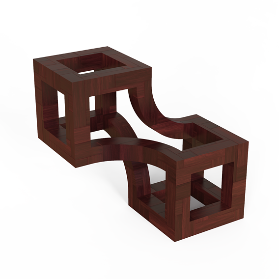 Wood Decoration Cube