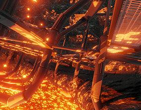 Geothermal Steam Factory Blender 28 Eevee 3D asset